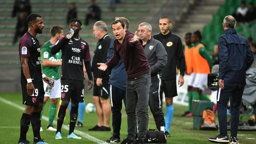 Vincent Hognon, le coach messin, à St Etienne.