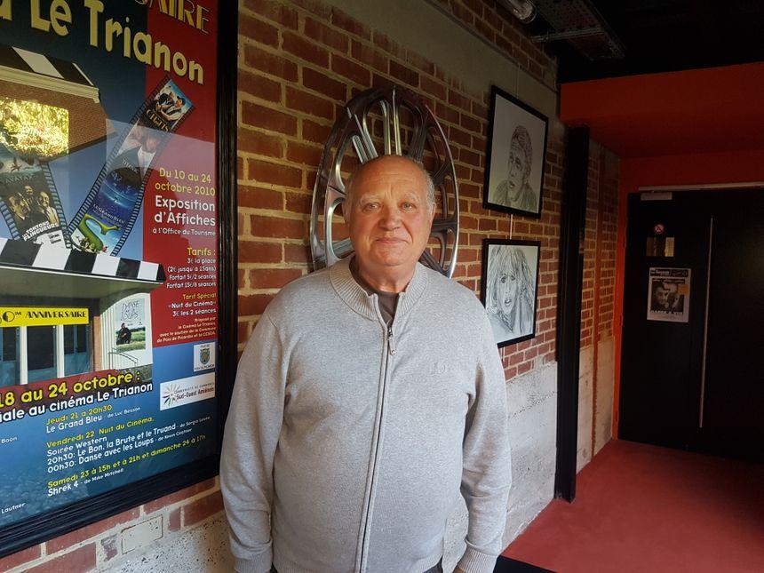 Bernard Babka bénévole au Trianon ciné de Poix