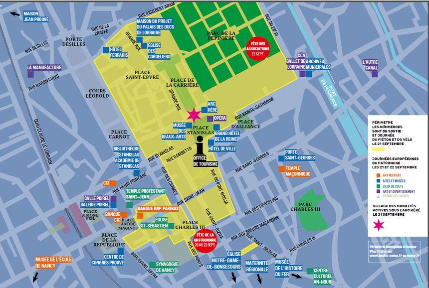 Plan de Nancy - Voyages - Cartes