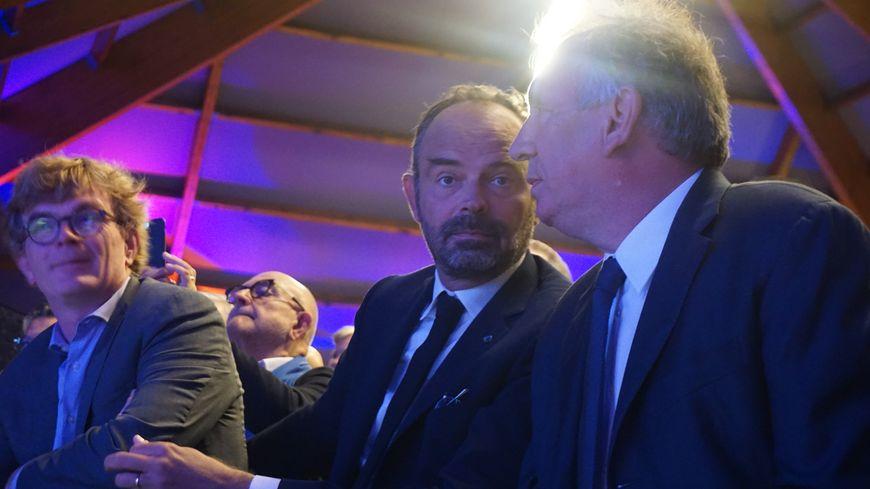 Edouard Philippe au côté de François Bayrou au congrès de rentrée du MoDem