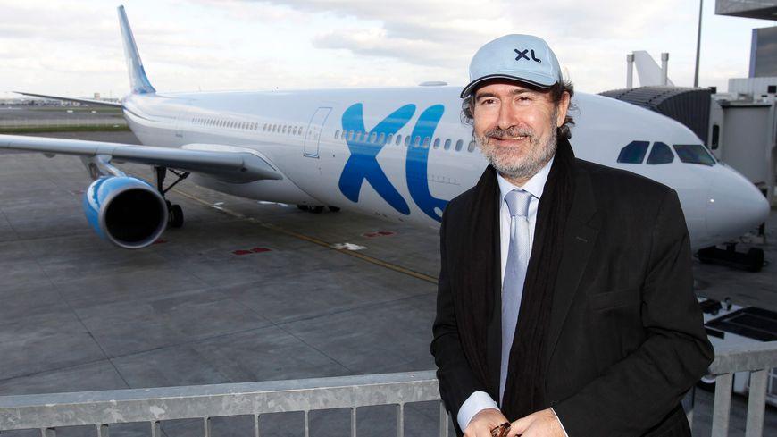 Laurent Magnin, PDG d'XL Airways, à Toulouse en 2012.