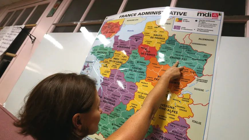 La carte des régions de France.