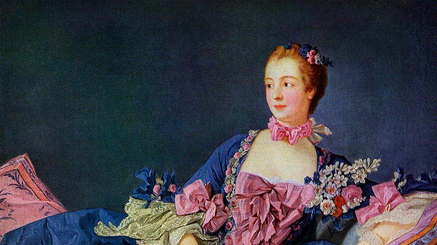 Jeanne Antoinette Poisson, Marquise De Pompadour,  un portrait de Francois Boucher.