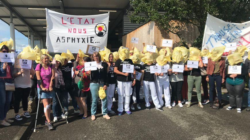 Le personnel des urgences de l'hôpital Layné de Mont-de-Marsan, le 10 septembre dernier