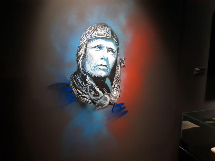 """Exposition """"La Légende des Cieux"""" réalisée par C215 au musée du Bourget"""