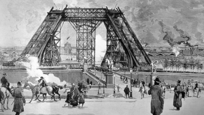 La construction de la Tour Eiffel