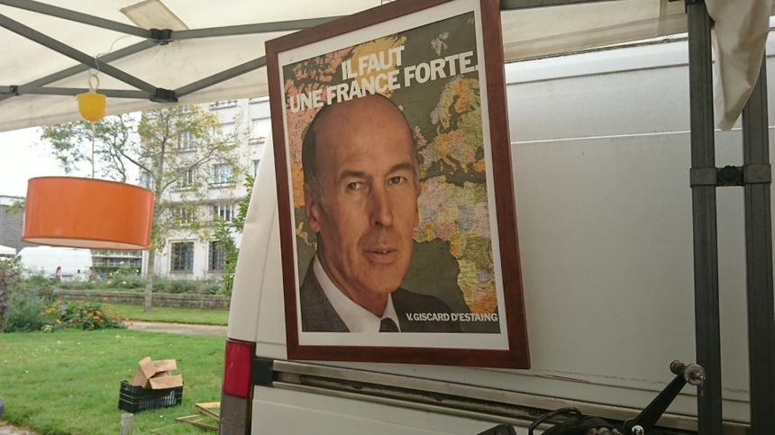 Jacques Chirac a de la concurrence ... Ici, une affiche de campagne de Valery Giscard-d'Estaing