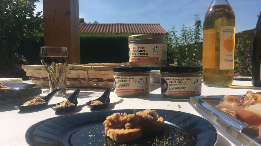 Rillettes et autres mousselines élaborées dans la Loire... mais à 90 % à base de carpes de la Dombes.
