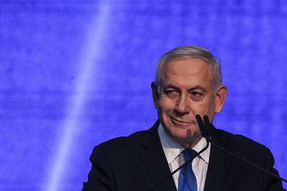 Le premier ministre israélien Benyamin Netanyahou face à ses partisans, mardi 17 septembre à Tel Aviv, après l'annonce des résultats des élections.