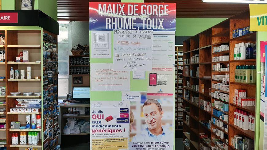 La pharmacie de Vallière fait de la pub pour la nouvelle médecin