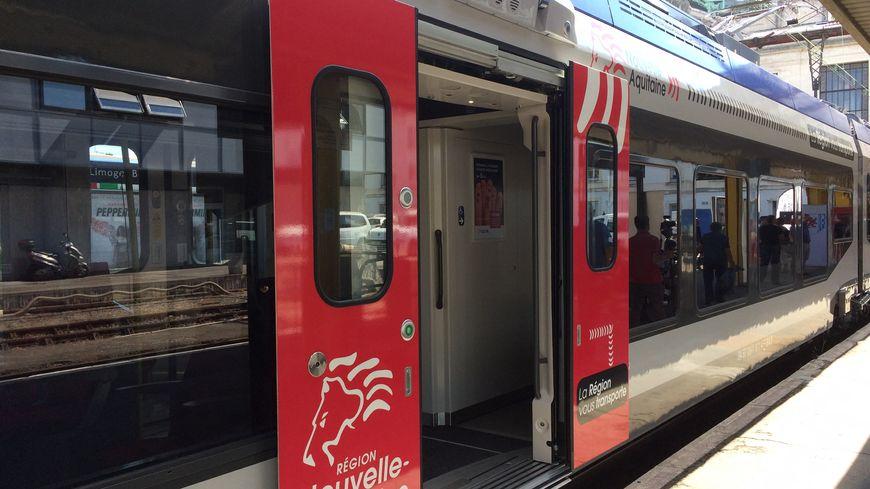 Une rame TER Nouvelle Aquitaine
