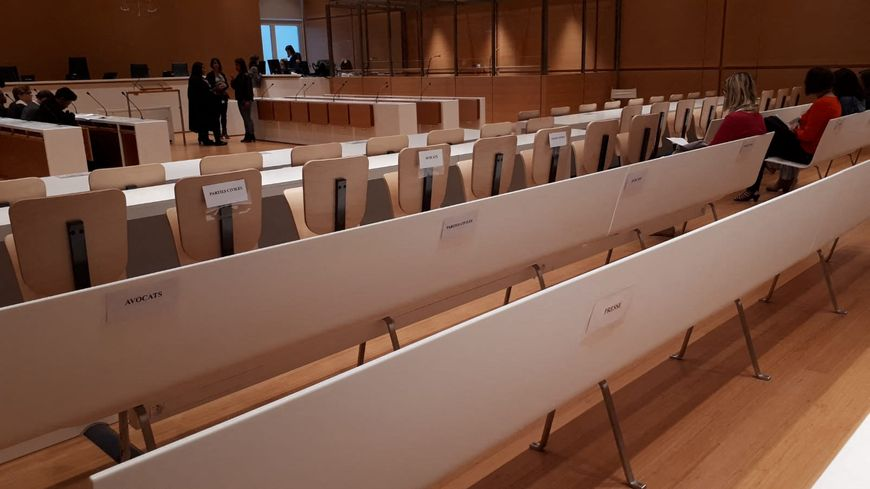 La salle d'audience du tribunal correctionnel de Paris