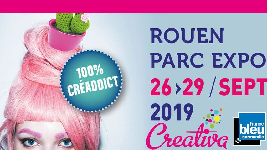 Affiche salon Créativa 2019 à Rouen