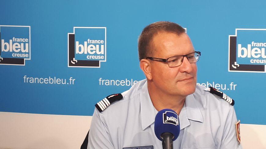 Frédéric Delcroix, le patron des pompiers en Creuse