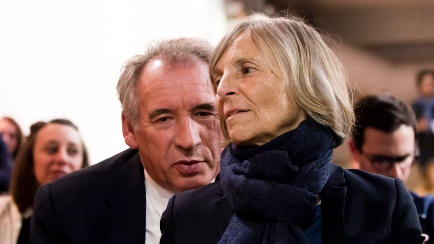 Le président du MoDem, François Bayrou, et Marielle de Sarnez en mars 2019
