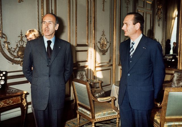Valéry Giscard d'Estaing et Jacques Chirac, en 1974 à l'Elysée