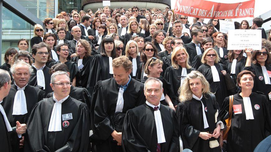 Grève des avocats à Bordeaux 26 juin 2014