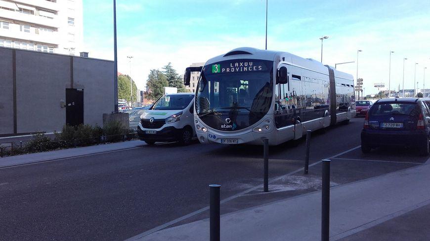 Bus métropole du Grand Nancy (Meurthe-et-Moselle), réseau Stan Kéolis, 21 août 2019.