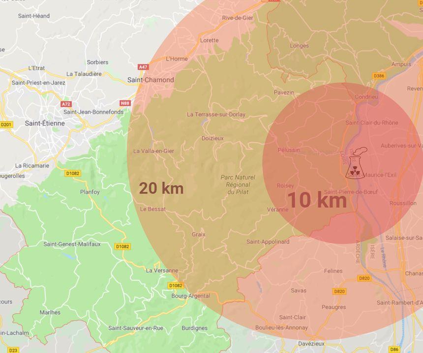 La nouvelle zone de sécurité comprend notamment Saint-Chamond et Rive-de-Gier