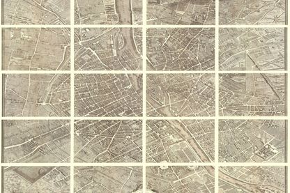 Plan de Paris dressé par Louis Bretez et Michel-Étienne Turgot en 1739
