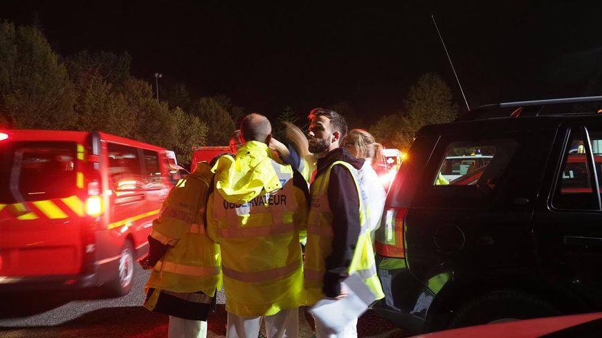 Pompiers, Samu, Croix Rouge, Protection civile... Au total 200 secouristes mobilisés toute la nuit pour cette simulation de catastrophe ferroviaire