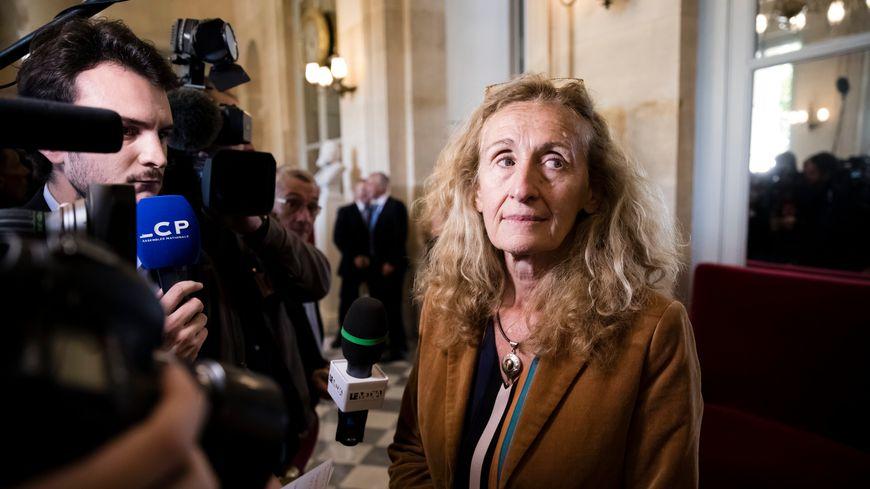 La ministre de la Justice Nicole Belloubet, salle des 4 colonnes à l'Assemblée nationale, le 10 septembre 2019