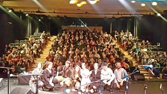 Concert de rentrée d'Ocora Couleurs du Monde au Carreau du Temple, avec Las Hermanas Caronni, Erik Truffaz, Aguamadera, Waed Bouhassoun, Rusan Filiztek