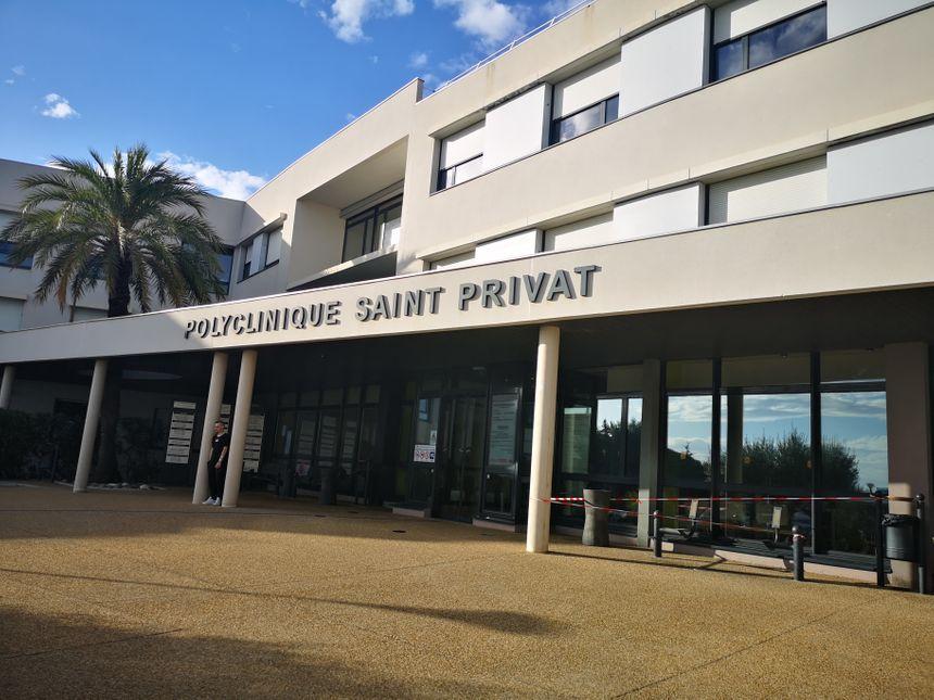 Entrée de la polyclinique Saint-Privat à la sortie de Béziers