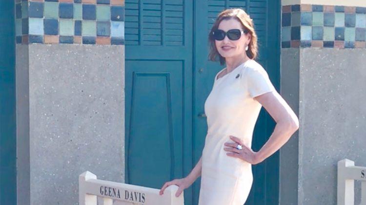 L'actrice américaine Geen Davis a inauguré sa cabine sur les Planches.