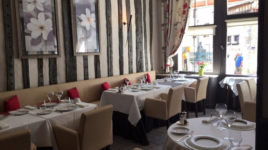 Le cadre cosy et rassurant du restaurant L' Amphitryon rue de la boucherie àLimoges.