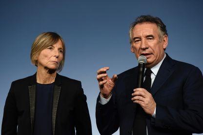 Marielle de Sarnez et François Bayrou, le 17 décembre 2017.