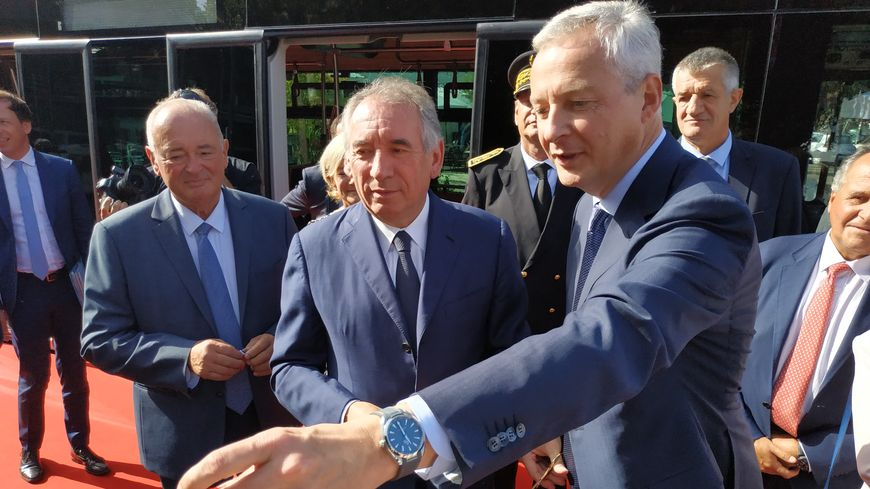 Bruno le Maire et François Bayrou pour l'inauguration de la Foire de Pau.