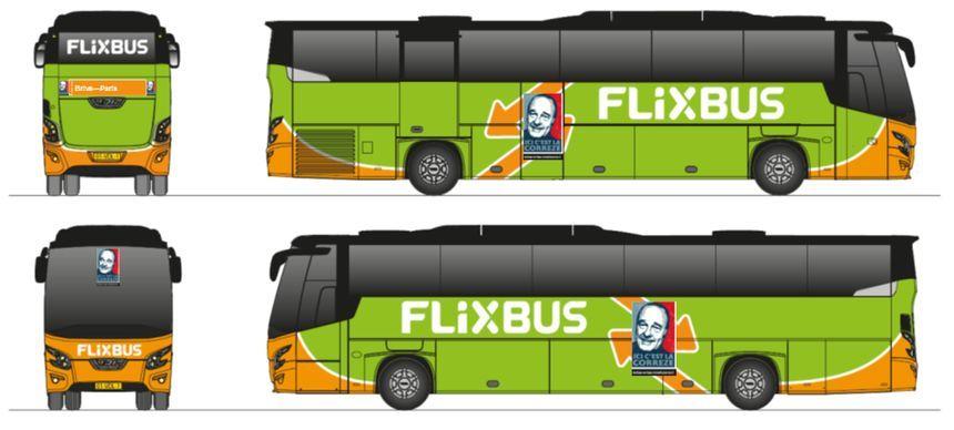 Une image bien connue en Corrèze va orner les bus le temps de quelques aller-retour vers Paris ! © Flixbus