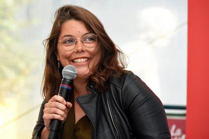 """Pauline Delabroy-Allard à la réception du Prix des libraires de Nancy 2018 pour """"Ca raconte Sarah """" au Livre sur la place à Nancy en 2018"""