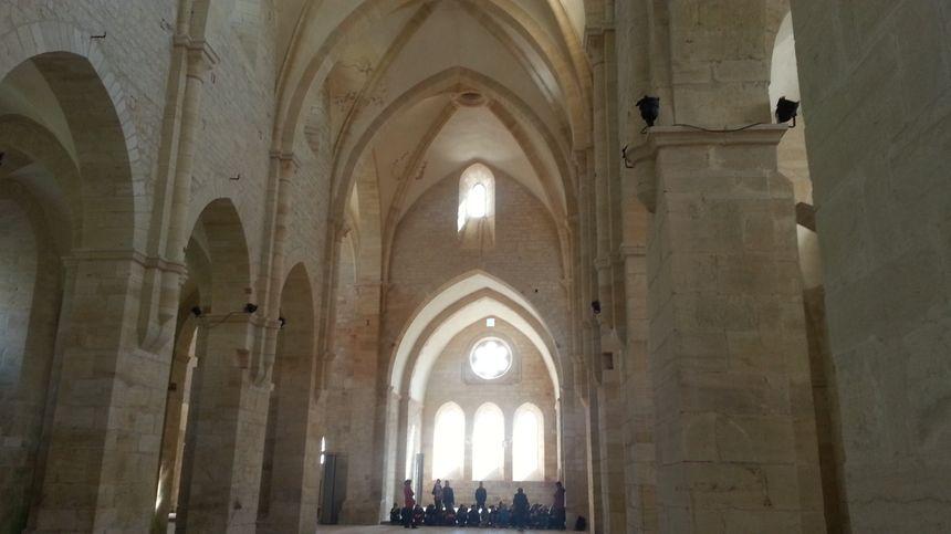 L'église de l'abbaye de Noirlac (Cher)