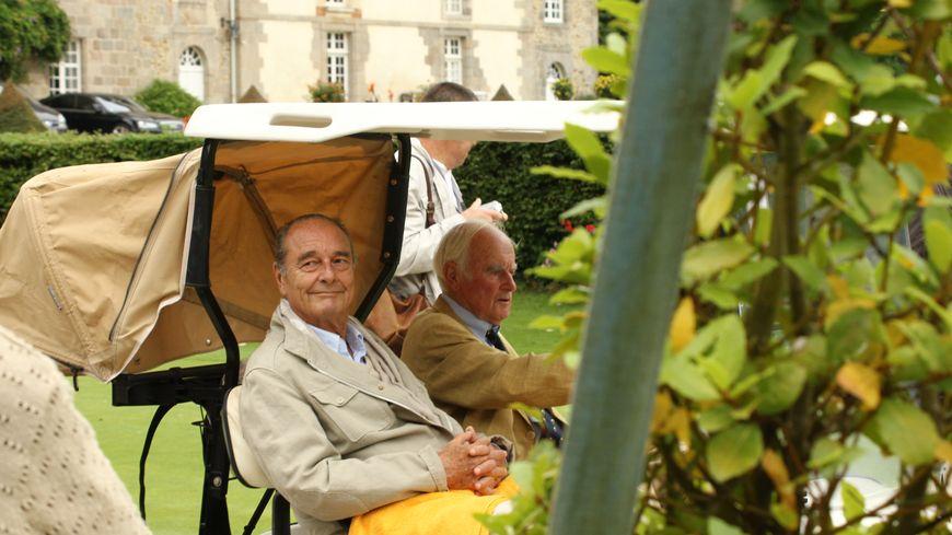 Jacques Chirac au Domaine des Ormes d'Epiniac