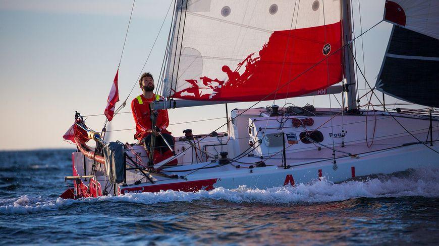 """Le bateau est """"une petite formule 1"""" selon les dires de Pierre Le Roy."""