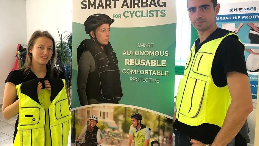 B'Safe, le premier gilet airbag pour cycliste