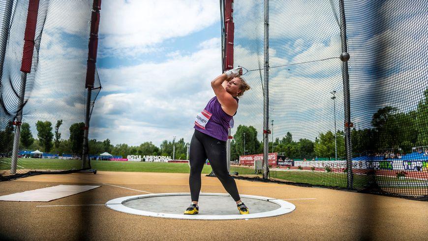 Alexandra Tavernier, lors de sa victoire en challenge mondial, à Szekesfehervar (Hongrie) en juillet