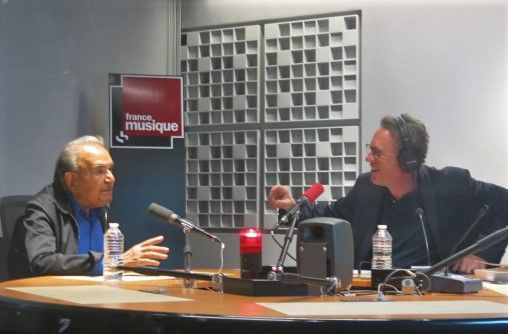France Musique, studio 451... Jean-Pierre Kalfon & Benoît Duteurtre (g. à d.)