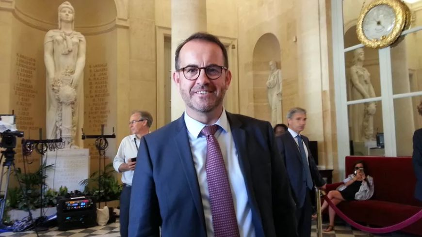 Hervé Saulignac, député de l'Ardèche, à l'Assemblée Nationale