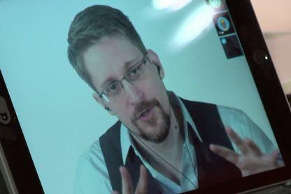 Edward Snowden lors de son entretien sur France Inter, enregistré le 13 septembre 2019