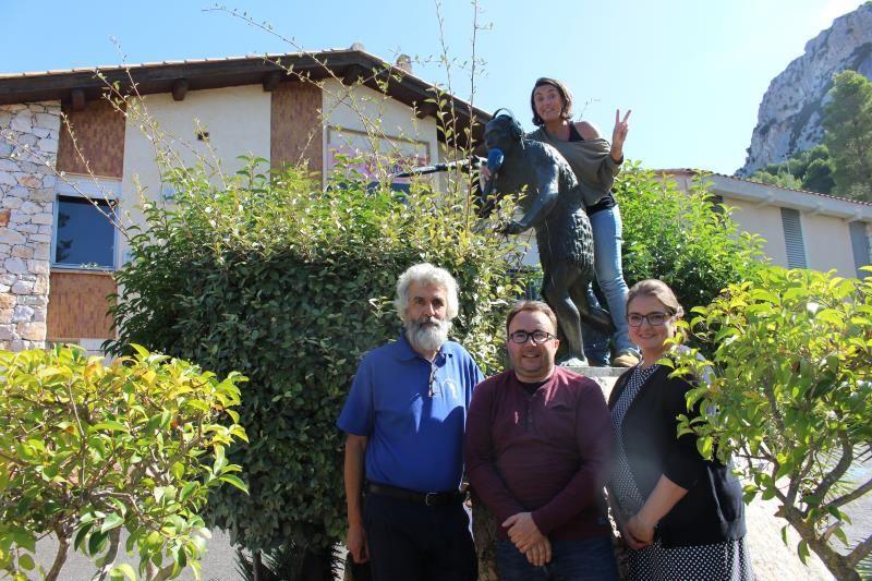 Jacques, David, Anne-Sophie et Edith avec Arago 21 au micro -