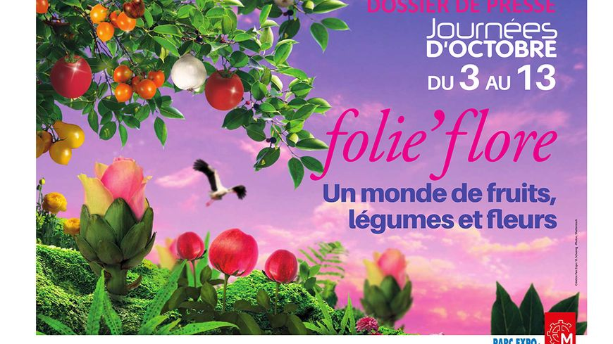 Folie'Flore 2019 au parc des expositions de Mulhouse - Affiche