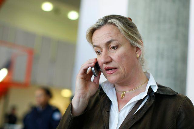 Irène Frachon au tribunal de Nanterre lors du premier procès pénal.