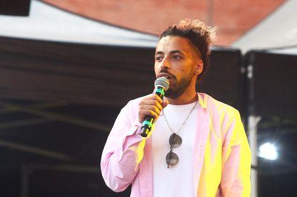Le rappeur Némir pendant le Festival Ida Y Vuelta à Perpignan.