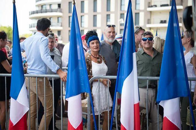 Des militants d'extrême droite à l'université d'été du RN, mi septembre à Fréjus