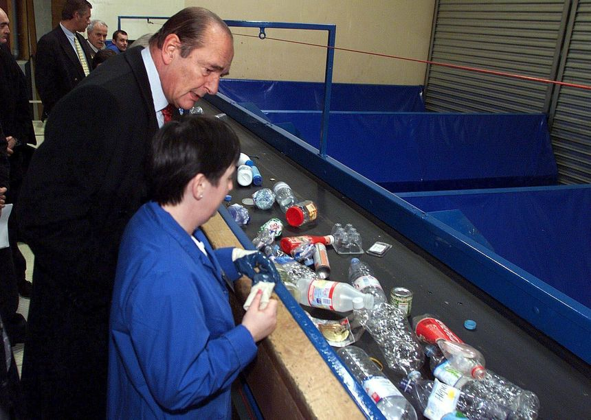 Jacques Chirac avait visité l'entreprise Séché Eco Industrie.