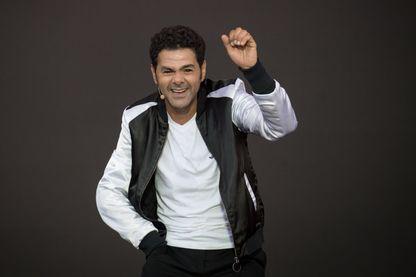 L'humoriste, acteur et producteur, Jamel Debbouze au festival de musique Vieilles Charrues du 18 juillet 2019 à Carhaix-Plouger.