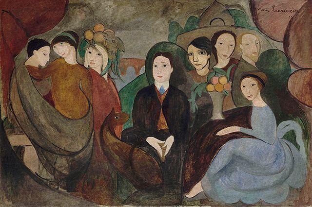 Marie Laurencin - Apollinaire et ses amis Centre Pompidou MNAM CCI / Adagp